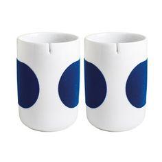 Tea Mug Dark Blue Set Of 2, £8, now featured on Fab.