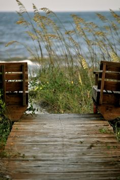 Reminds me of the footbridge that leads Jenna to the ocean from the cozy yellow cottage.