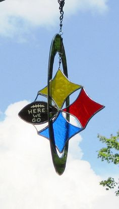 Steelers stained glass sun catcher/ by GlassKissinCreations, $49.00