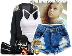 """""""tRiLL"""" by chenelleedwards ❤ liked on Polyvore"""