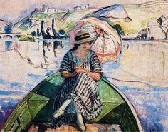 henri lebasque | Henri Lebasque (Champigné, 1865 - Le Cannet, 1937), Promenade sur l ...