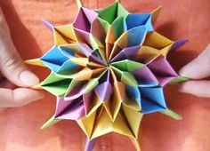 Celebrate New Year's with Origami Fireworks! fun easy crafts for teens – Bing Images Diy Origami, Origami And Kirigami, Origami Paper Art, How To Make Origami, Modular Origami, Origami Tutorial, Oragami, Origami Boxes, Origami Instructions