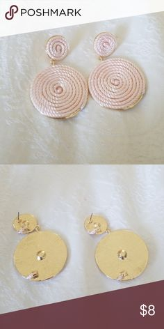 New swirl earrings Never worn . I have small ears and they were too big on me . Need backs Jewelry Earrings Diy Earrings, Diamond Earrings, Stud Earrings, Pearl Jewelry, Bridal Jewelry, How To Clean Diamonds, Jewelry Crafts, Handmade Jewelry, Jewelry Insurance