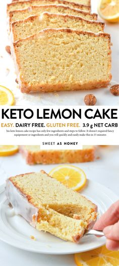 KETO LEMON POUND CAKE with Almond Flour, Dairy free, Gluten free #ketolemonpoundcake #ketolemoncake #ketocake #ketopoundcake #almondflourpoundcake #glutenfreepoundcake #healthylemoncake #healthypoundcake #healthylemonpoundcake #moistlemonpoundcake #easylemonpoundcake #lemonpoundcakeloaf #paleolemonpoundcake #dairyfreecake Gluten Free Pound Cake, Pound Cake Recipes, Dairy Free Cakes, Lactose Free Keto, Lemon Cake Recipes, Gluten Free Dairy Free Desserts, Gluten Free Carbs, Lemon Cakes, Gluten Free Flour