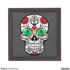 Skull Gift Box #Skull #Bone #Skeleton #Holiday #Halloween #Keepsake #Trinket #Jewelry #Gift #Box