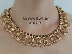 *P Tutorial Syracuse Necklace by RDVIVAJEWELRY on Etsy, $12.00