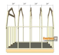 shed plans - small barn - roff truss. Plan Design, Diy Design, 8x8 Shed, Shed Construction, Shed Dormer, Gambrel Roof, Small Barns, Diy Shed Plans, Roof Trusses