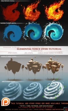 Voice over lesson elemental pack term 39 Sakimi Chan on Patreon Digital Painting Tutorials, Digital Art Tutorial, Art Tutorials, Concept Art Tutorial, Drawing Tutorials, Art Sketches, Art Drawings, Pencil Drawings, Drawing Faces