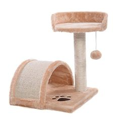 cat scratching post replacement parts - NEW! Cat Tree Post Scratcher Furniture Play House Pet Bed Kitten Toy Beige