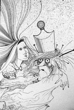 Ralph Steadman 1st American Edition 1970s ALICE Surreal