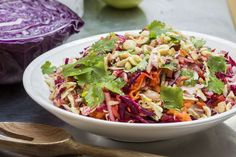 Red cabbage, apple and hazelnut coleslaw – Recipes – Bite
