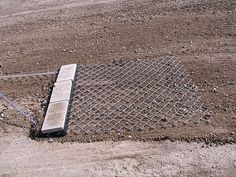 Chain Link Drag Mat Towed Behind A Small Tractor Chain