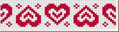 Fair Isle Knitting Patterns, Fair Isle Pattern, Bead Loom Patterns, Knitting Charts, Knitting Designs, Baby Knitting, Tiny Cross Stitch, Cross Stitch Heart, Cross Stitch Borders