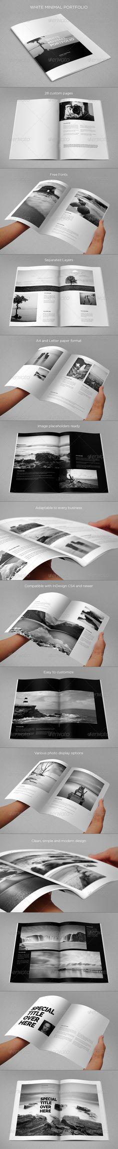 White Minimal Portfolio - Portfolio Brochures