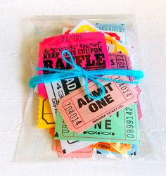 Assorted Raffle / Carnival Tickets Lot of 20 by vintagescrapshop