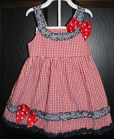 Bonnie Jean Vermelho Branco Azul Vestido Plissado Patriótico Seersucker 18M Julho 4th | Roupas, calçados e acessórios, Roupas para bebês e crianças pequenas, Roupas para meninas (recém-nascida a 5T) | eBay!