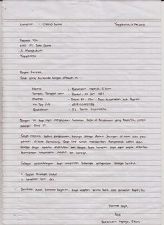 Fikri Wildan Nugraha: Cara Membuat Surat Lamaran Pekerjaan