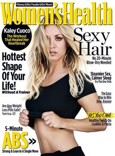 Kaley Cuoco covers the December 2016 issue of Women's Health