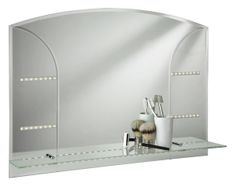 Searchlight 5046 IP44 Modern LED Mirror Light With Glass Shelf Suitable For Bathrooms