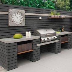 meridian 4 built in gas bbq the barbecue store spain - built in bbq cost built in bbq cost, meridian in gas bbq Modern Outdoor Kitchen, Outdoor Kitchen Bars, Backyard Kitchen, Backyard Bbq, Outdoor Living, Outdoor Kitchen Countertops, Modern Outdoor Grills, Covered Outdoor Kitchens, Concrete Backyard