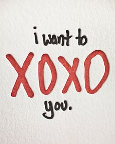 XOXO you Funny Letterpress Greeting Card / 005 by LifeIsFunnyPress