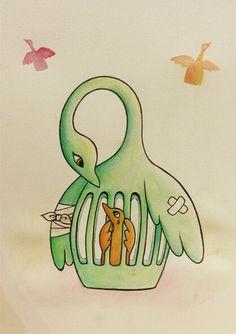 tengo alas, quiero volar / mi mamá no vuela, se hizo daño / mi mamá no me deja volar / quiero volar...