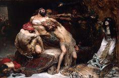 Samson (1887), oil on canvas   artwork bySolomon Joseph Solomon