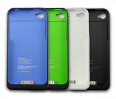 1900mAh External Backup Battery Charger Case For iPhone 4 4S