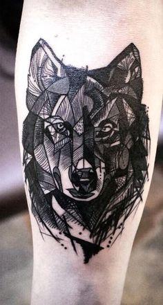 100 Tatuagens Geométricas para se inspirar | #tattoo Wolf Tattoo Forearm, Lone Wolf Tattoo, Body Art Tattoos, Cool Tattoos, Tatoos, Awesome Tattoos, Wolf Tattoos For Women, Tattoos For Guys, Sick Tattoo