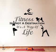 Cheap fitness polar, Buy Quality fitness etc directly from China fitness calipers Suppliers: Wall Decals Quotes Sport Fitness Is Not Exercises Gym Bedroom Vinyl Decor Wall Stickers, Vinyl Decals, Wall Decals, Wall Art, Yoga Quotes, Wall Quotes, Quotes Quotes, Vinyl Dekor, Citations Sport