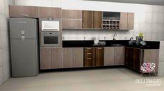 Cozinha, projeto Paula Pinheiro. Renderização Promob Plus com Render Up.