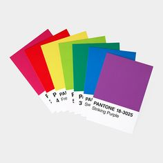 Pantone Postcard Box    These bold and graphic postcards are based on the Pantone Matching System, known by insiders as PMS, widely used by printers, designers, and others for color specifying and matching. Each of the 100 postcards is a different spot color with corresponding color number so you can correspond frequently and never repeat.