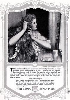 Ivory Soap Shampoo ad. 1918