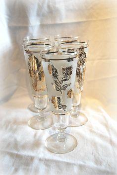 Vintage Pilsner Glasses. Set of 5.  $28.50 SOLD