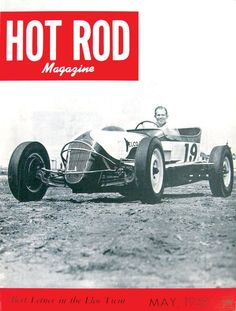 HOT ROD, May 1948. See all HOT ROD covers at http://www.hotrod.com/whereitbegan/hrdp_0808w_hot_rod_magazine_covers/  #hotrodmagazine #hotrod #May #1948 #48 #40s #retro #vintage #roadster #trackt