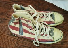 Iraq Veteran With American Flag Operation Iraqi Freedom High Top Classic Canvas Fashion Sneaker Casual Walking Shoes