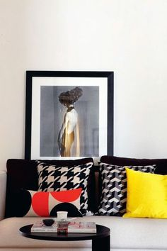 Pied de Poule Cushions Fun Decor, House Design, Home Decor Decals, Furniture Decor, Decor Interior Design, Black And White Decor, Interior Styling, Interior D, Inspiration