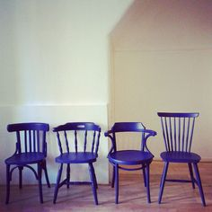 My new blue chairs #blue #chairs #yveskleinblue