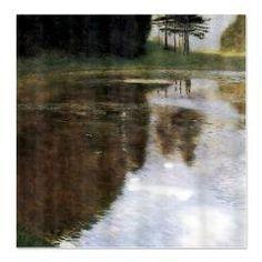 Gustav Klimt Quiet Pond Shower Curtain Religious Art World Prints Modern