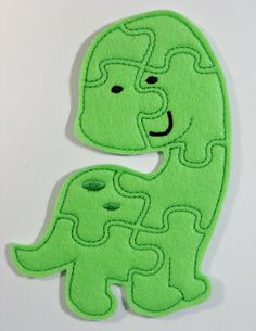 Dinosaur Felt Puzzle Children's Toy Game by lilliannamarie on Etsy, $5.00