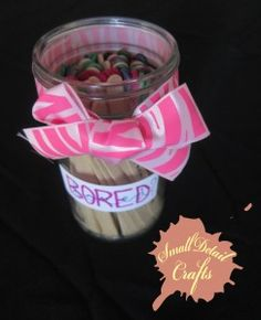 """The """"bored"""" Jar: What to do if you have nothing to do Small detail Craf … - Easy Crafts Crafts To Do When Your Bored, Fun Crafts To Do, Things To Do When Bored, Easy Diy Crafts, Crafts To Sell, Crafts For Kids, Homemade Slime, Diy Slime, Bored Jar"""