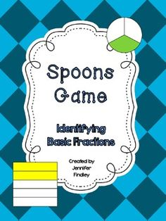 Spoons Games for School! Identifying Basic Fractions