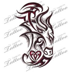 Marketplace Tattoo Tribal Taurus Bull with Heart #4475 | CreateMyTattoo.com
