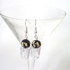 Upcycled LED and Carved Bone Earrings by Pookledo on Etsy, £3.00