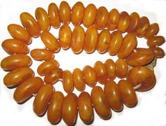 Antique African Copal amber trade beads