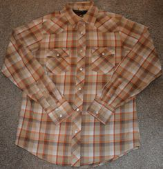 Old Navy Men's Size Small Vintage Western Rockabilly Shirt with Snap Buttons