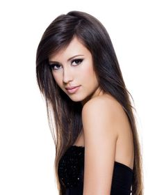 Straight Hair Hairstyles – Side Part