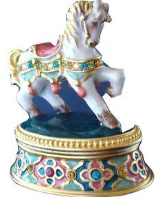Estee LAUDER Solid PERFUME COMPACT PRANCING PONY Pleasures FRAGRANCE NEW IN BOX http://www.bonanza.com/booths/FRAN24112