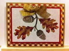 Artfully Articulate: Awesome in Autumn Week 2! Dreamweaver LG754 Lg Oak Leaves and Art Glitter