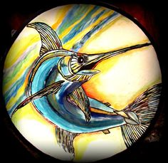 Father's Day Marlin Platter by BajaGypsy on Etsy